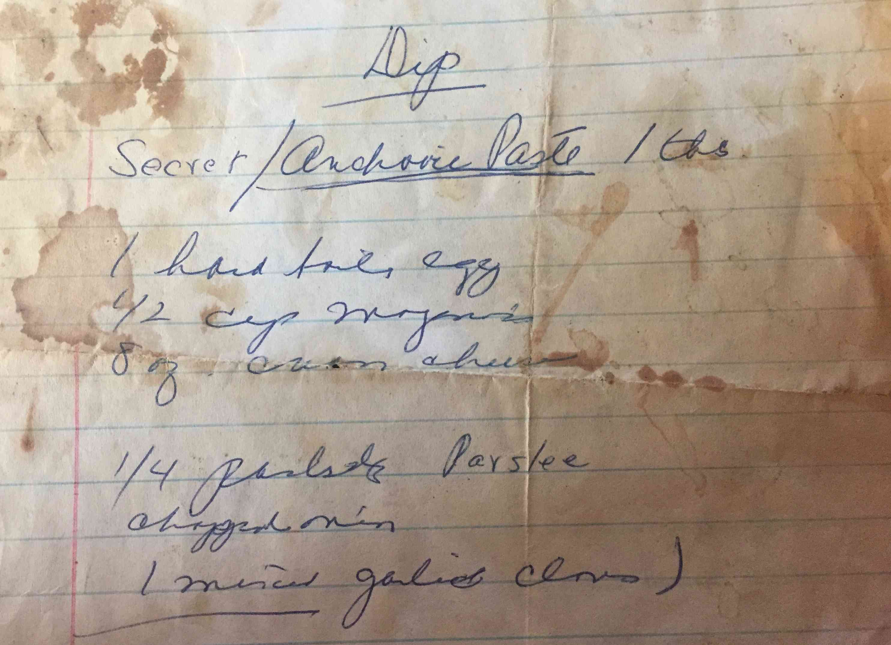 Anchovy Dip recipe