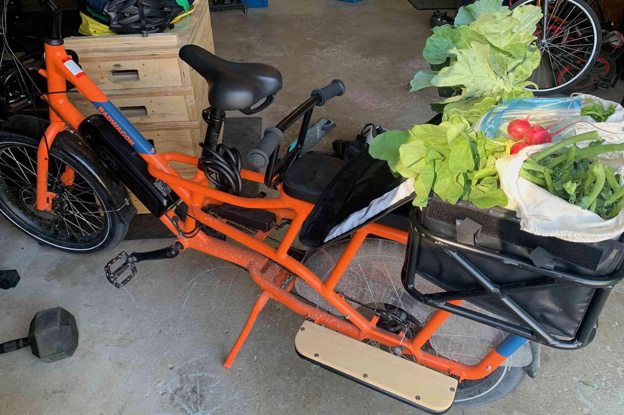 CSA share on my e-bike