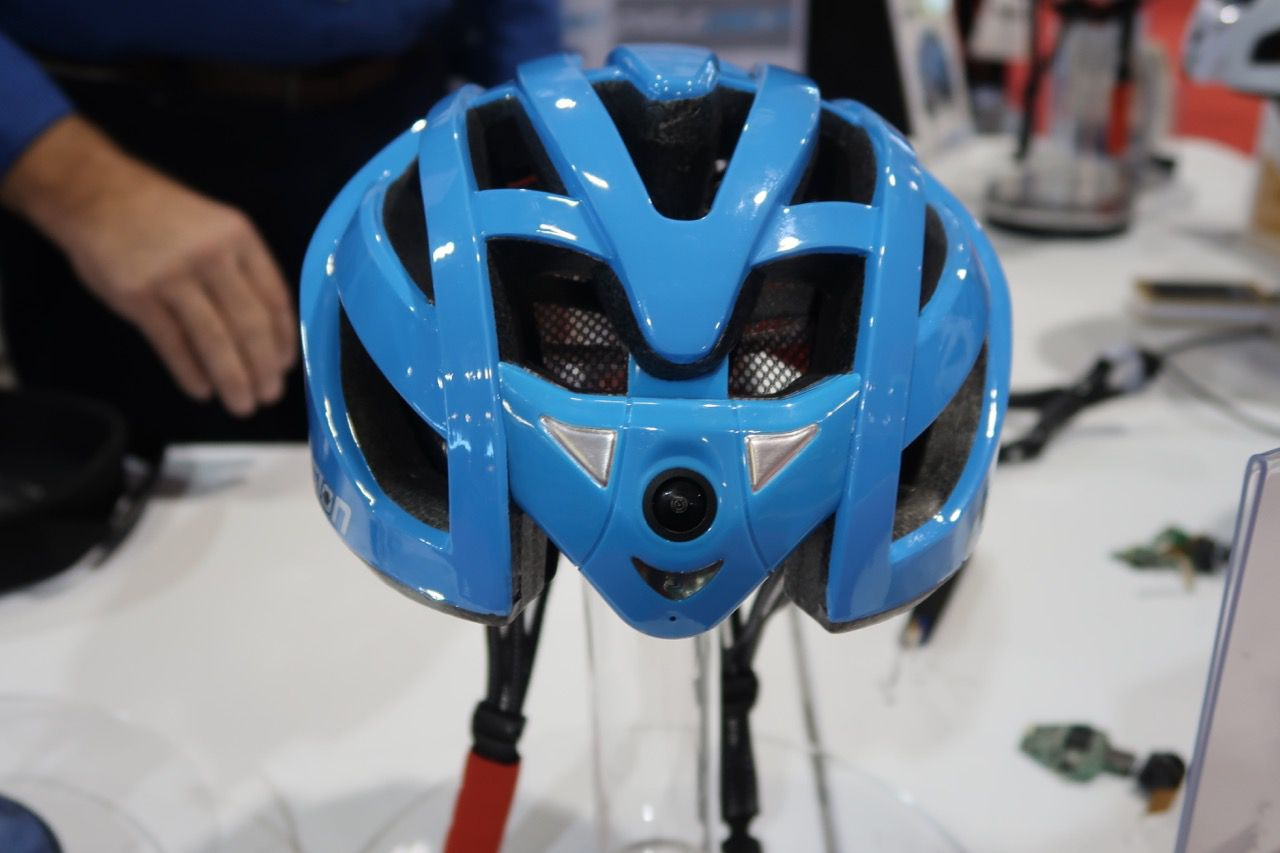 Cyclevision front view showing camera feature
