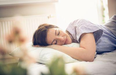 Sleepy woman.