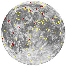A map showing TLP activity on the moon.