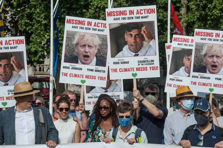 climate protesters in UK