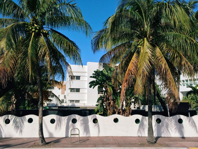 Historic Art Deco District in South Beach, Miami, USA