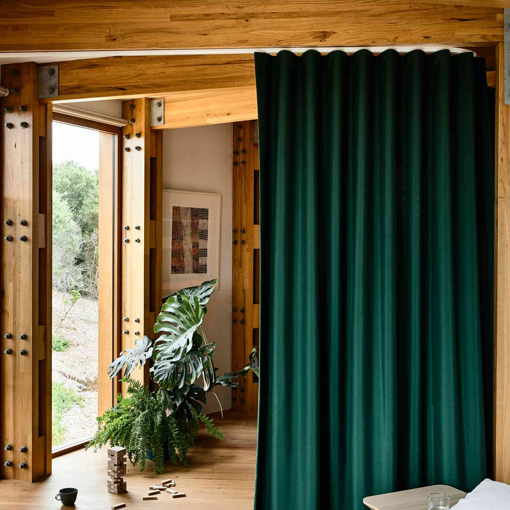Curtains instead of doors