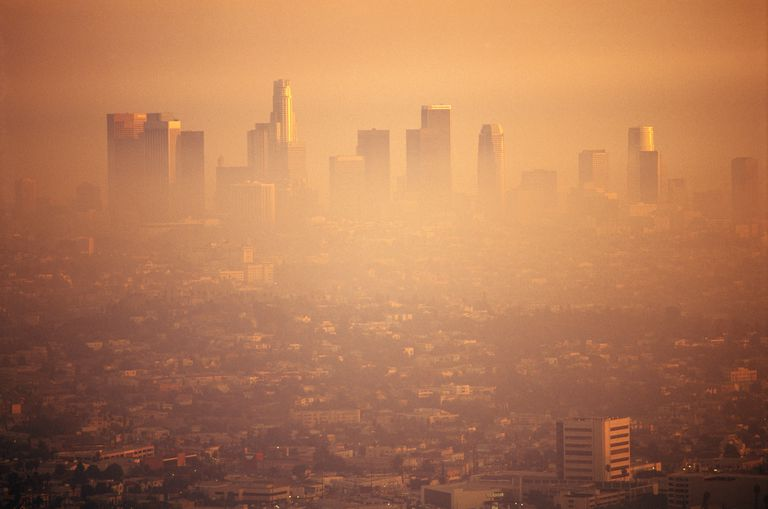 Air pollution over Los Angeles