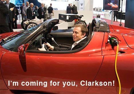 tesla roadster electric car elon musk photo