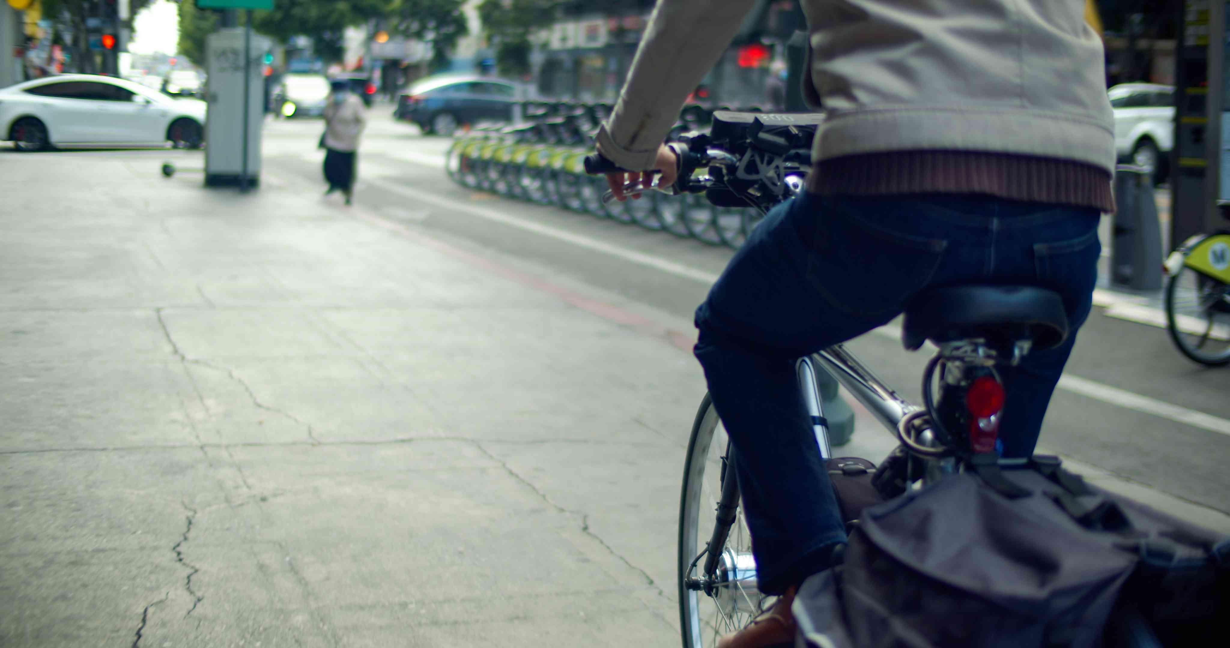 E-bike rider in LA