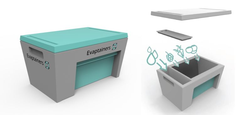 Evaptainers utiliza tecnología sin electricidad de la vieja escuela para la refrigeración del siglo XXI