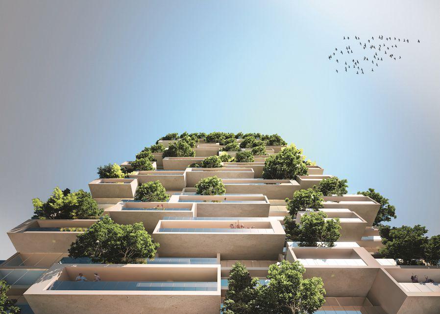 La Tour des Cedres balconies