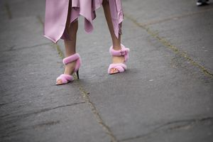 Valentino fur sandals