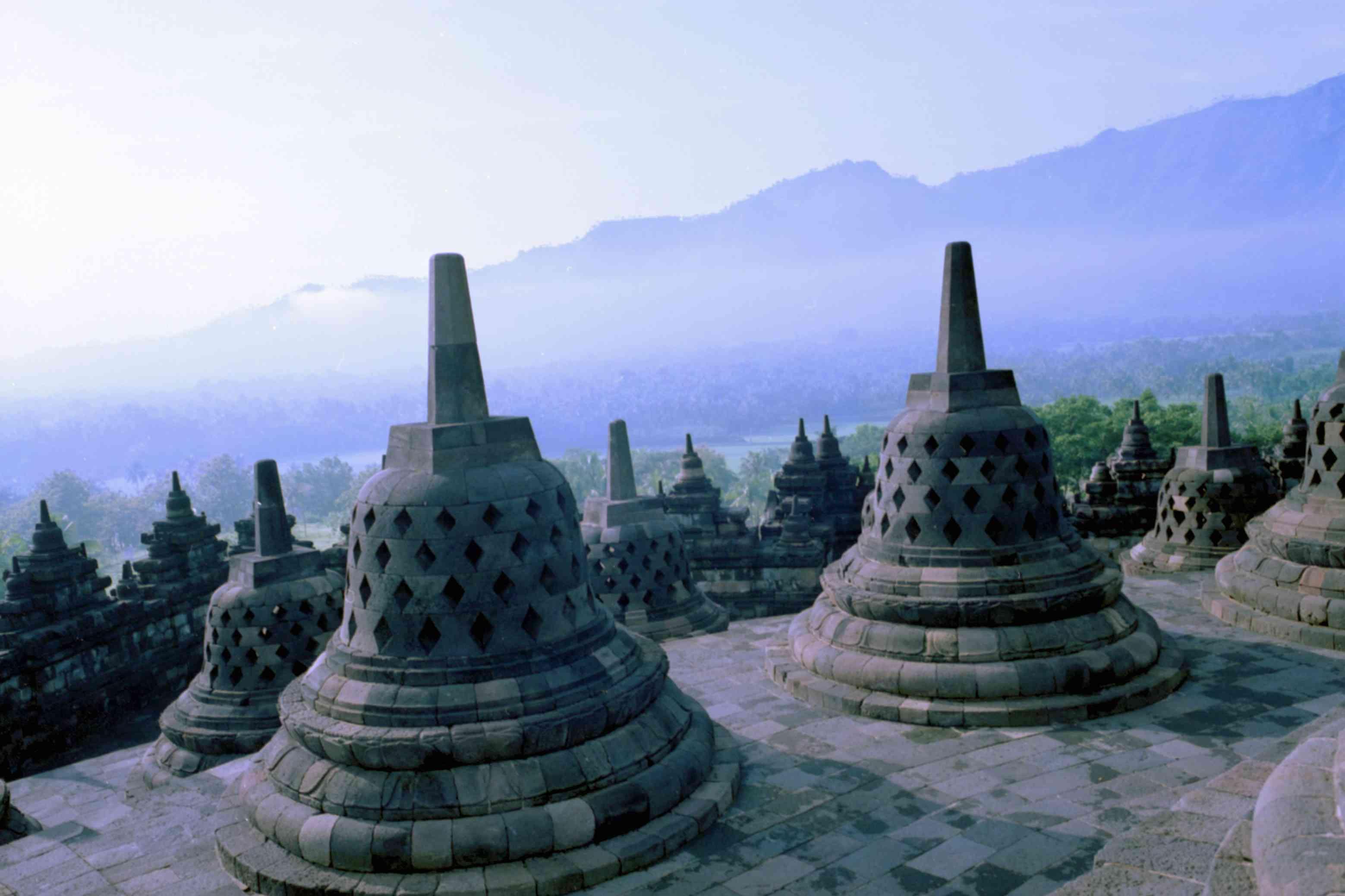Borobudur Temple in Magelang, Indonesia