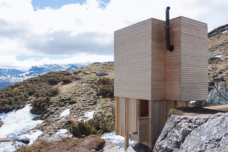 La pequeña y linda sauna noruega fue diseñada y construida por estudiantes