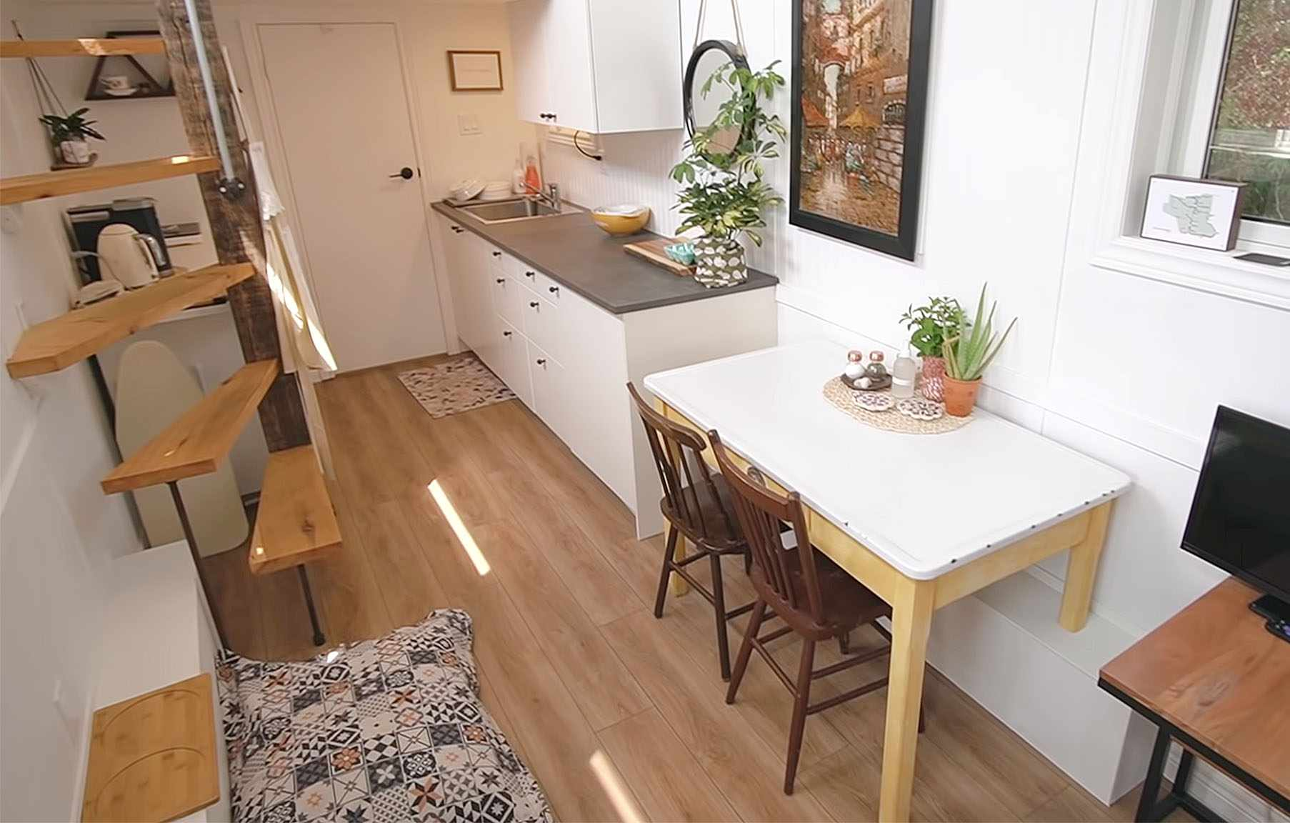 tiny home big farm dining table