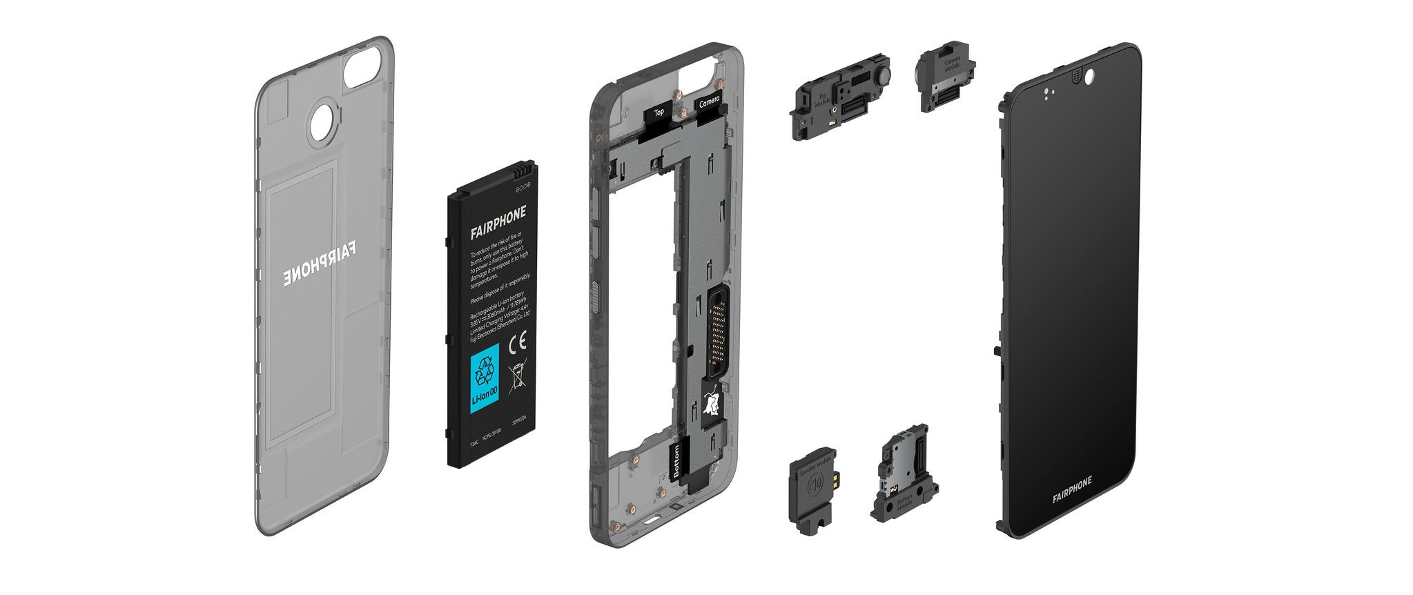 Fairphone in pieces
