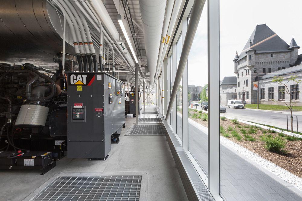 Generators behind glass
