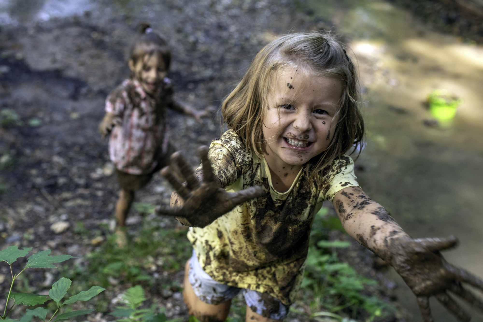 muddy little girls