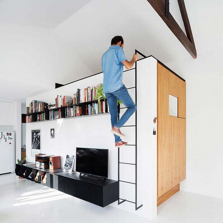 Renovación de apartamento pequeño y aireado agrega un loft y un dormitorio nuevo