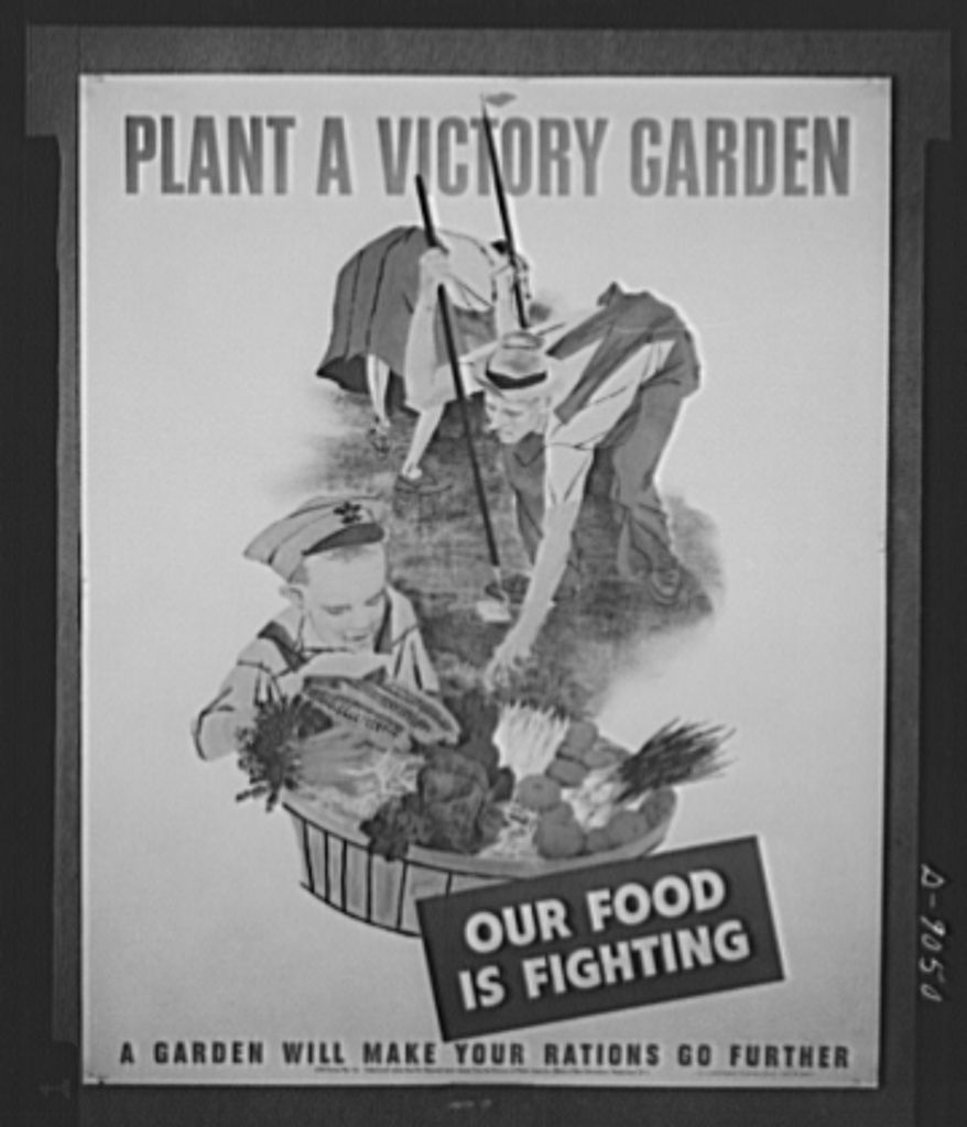 Poster encouraging people to plant a victory garden