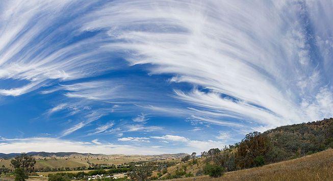 Cirrus clouds over Australia