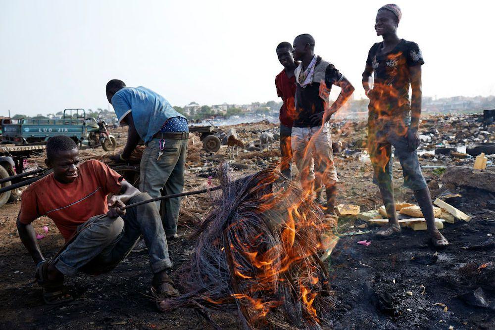burning at Agbogbloshie