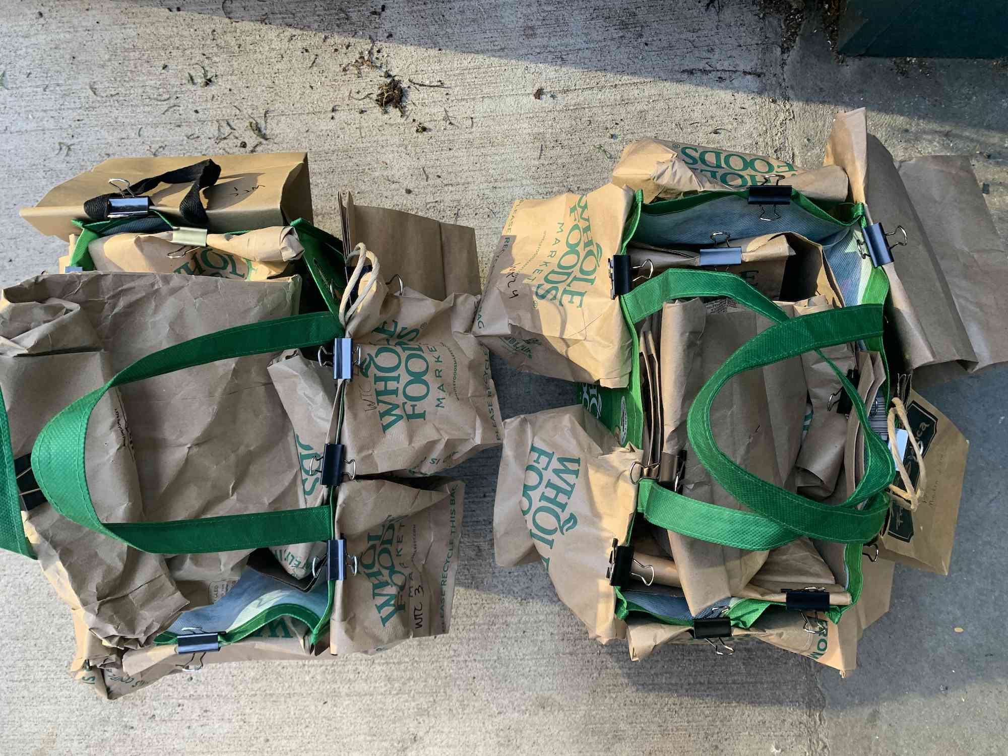 Shopping bags filled with bags