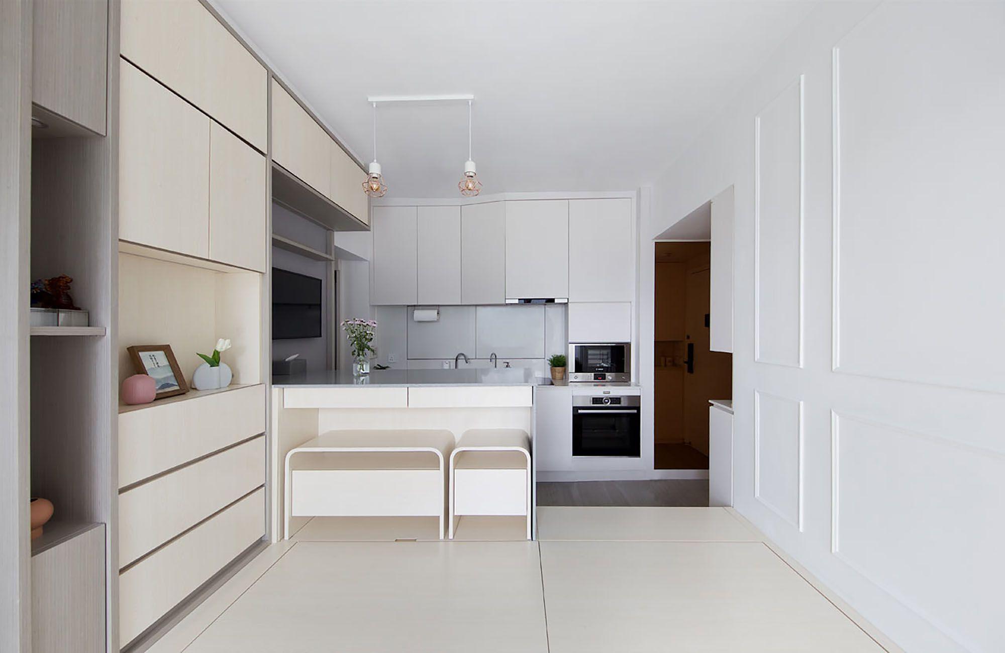 Smart Zendo micro-apartment by Sim-Plex Design Studio kitchen