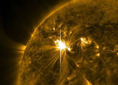 The sun erupted with one of the largest solar flares of this solar cycle on March 6, 2012 at 7PM ET.