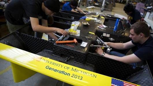 University of Michigan Generation 2013 solar car team