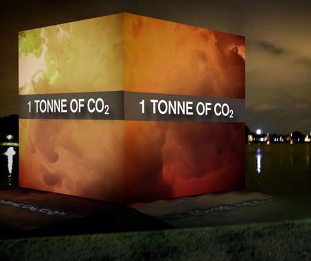 how big is a ton of co2 photo