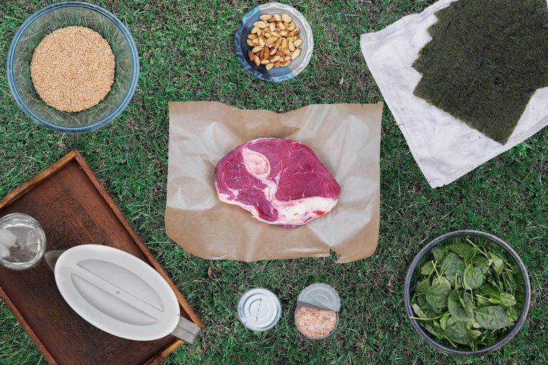 overhead shot of foods that can be overeaten
