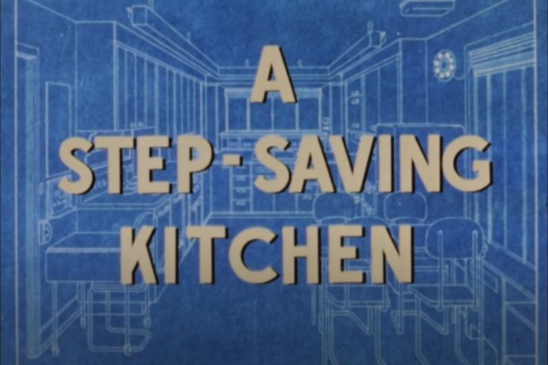 A step saving kitchen