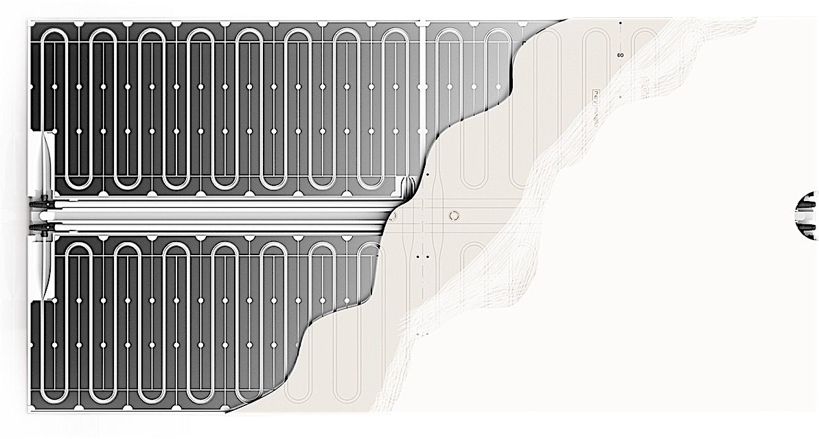 single panel with cooling coils