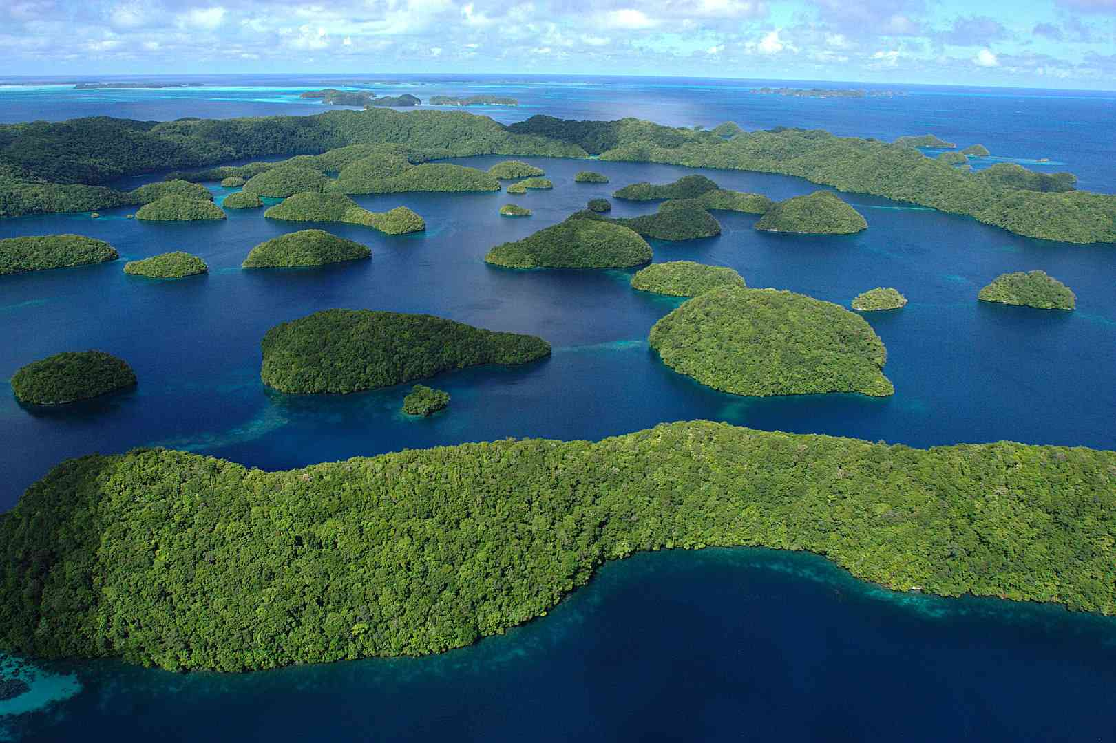 Palau in the Pacific Ocean
