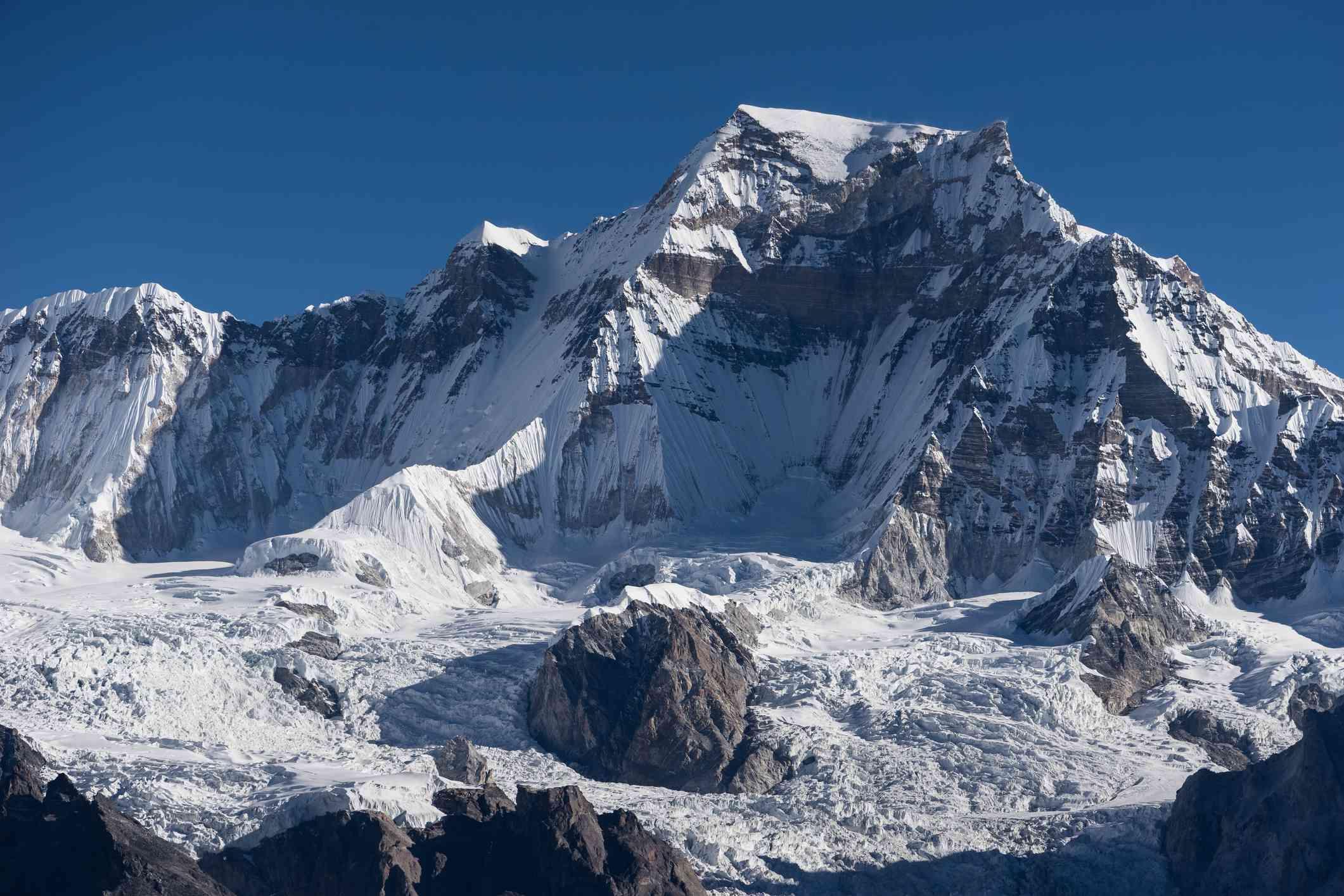 Gyachung Kang mountain peak in Nepal
