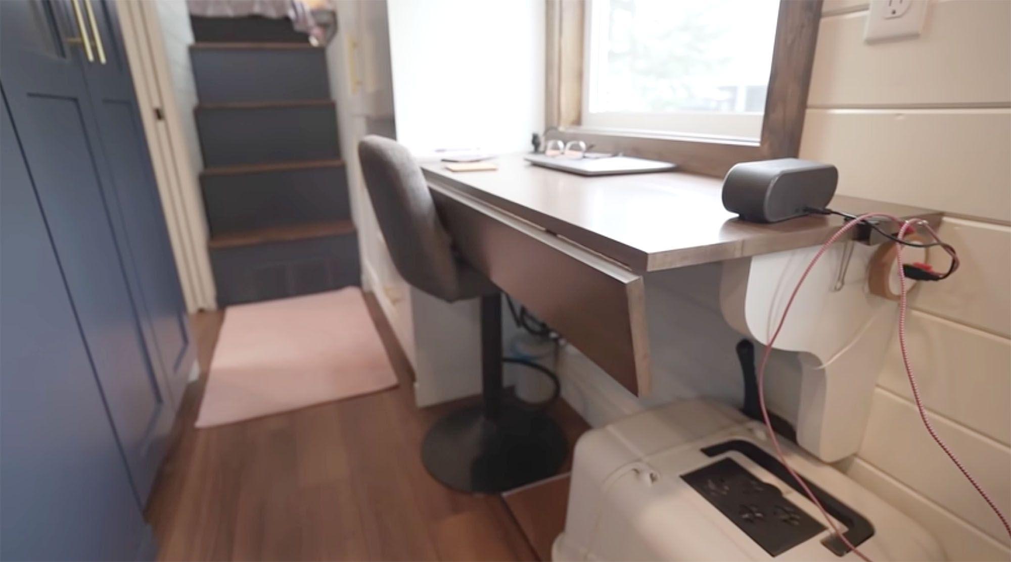 Serendipity tiny house office desk