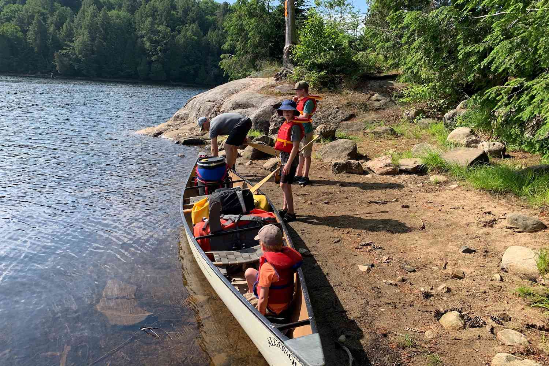 fully packed canoe