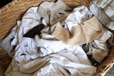 basket of cotton rags