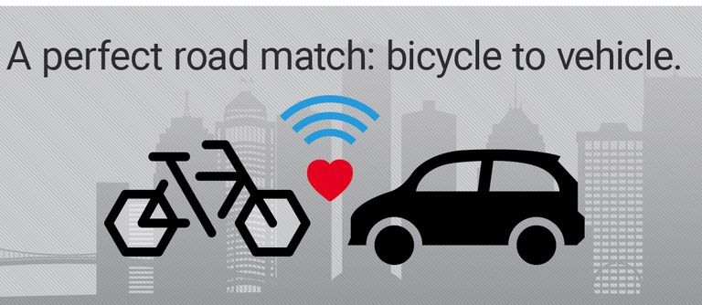 ¿Cuál es el sentido de los sistemas de comunicación de bicicleta a automóvil?