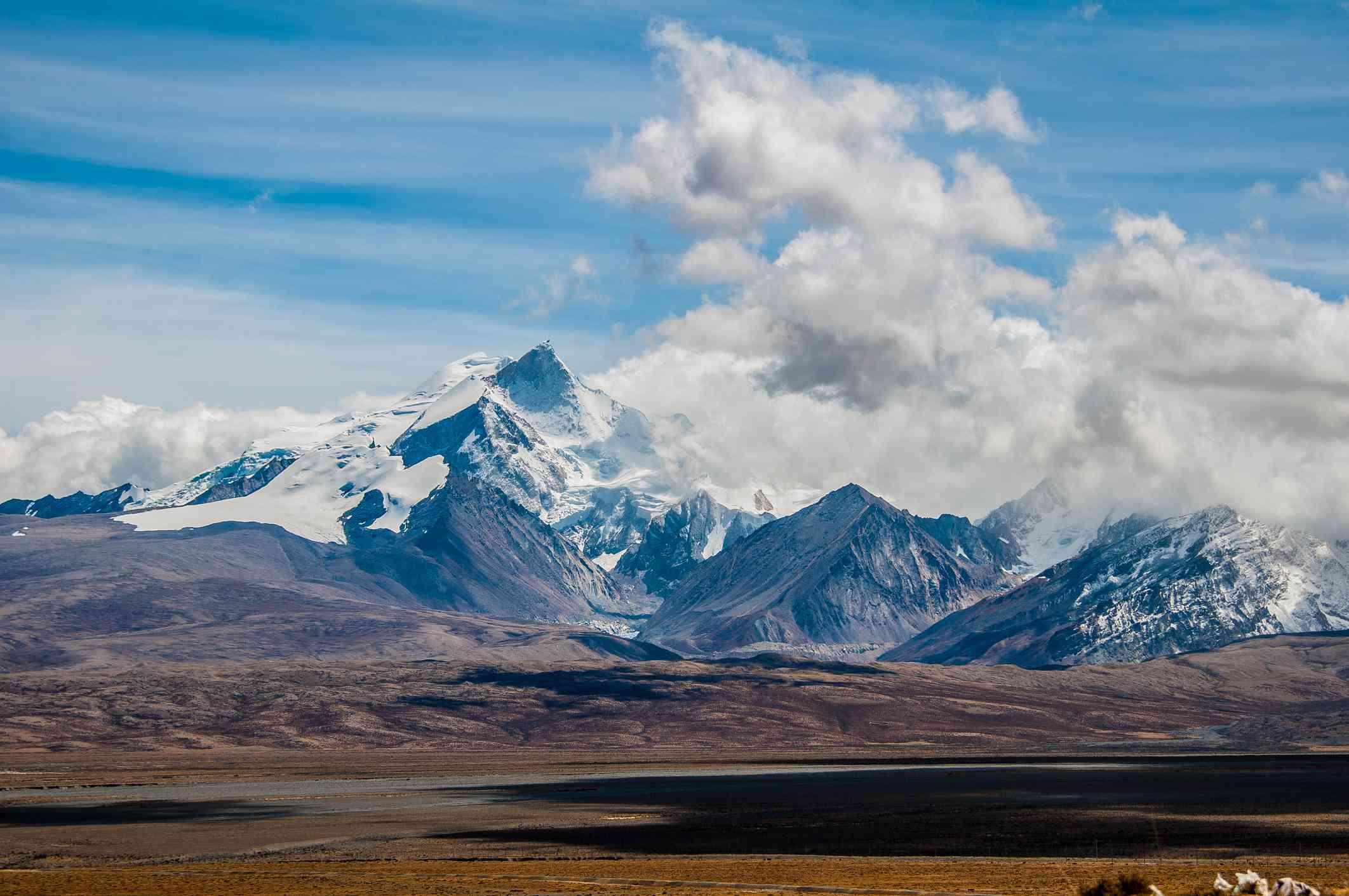 Mt Shishapangma in Ngali, Tibet