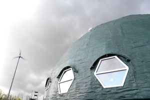 Exterior of the green dome