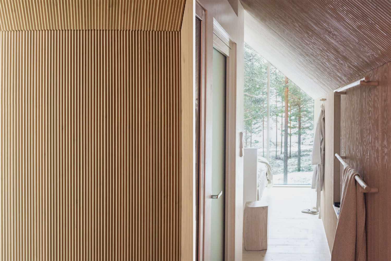 Niliaitta cabin by Studio Puisto entrance