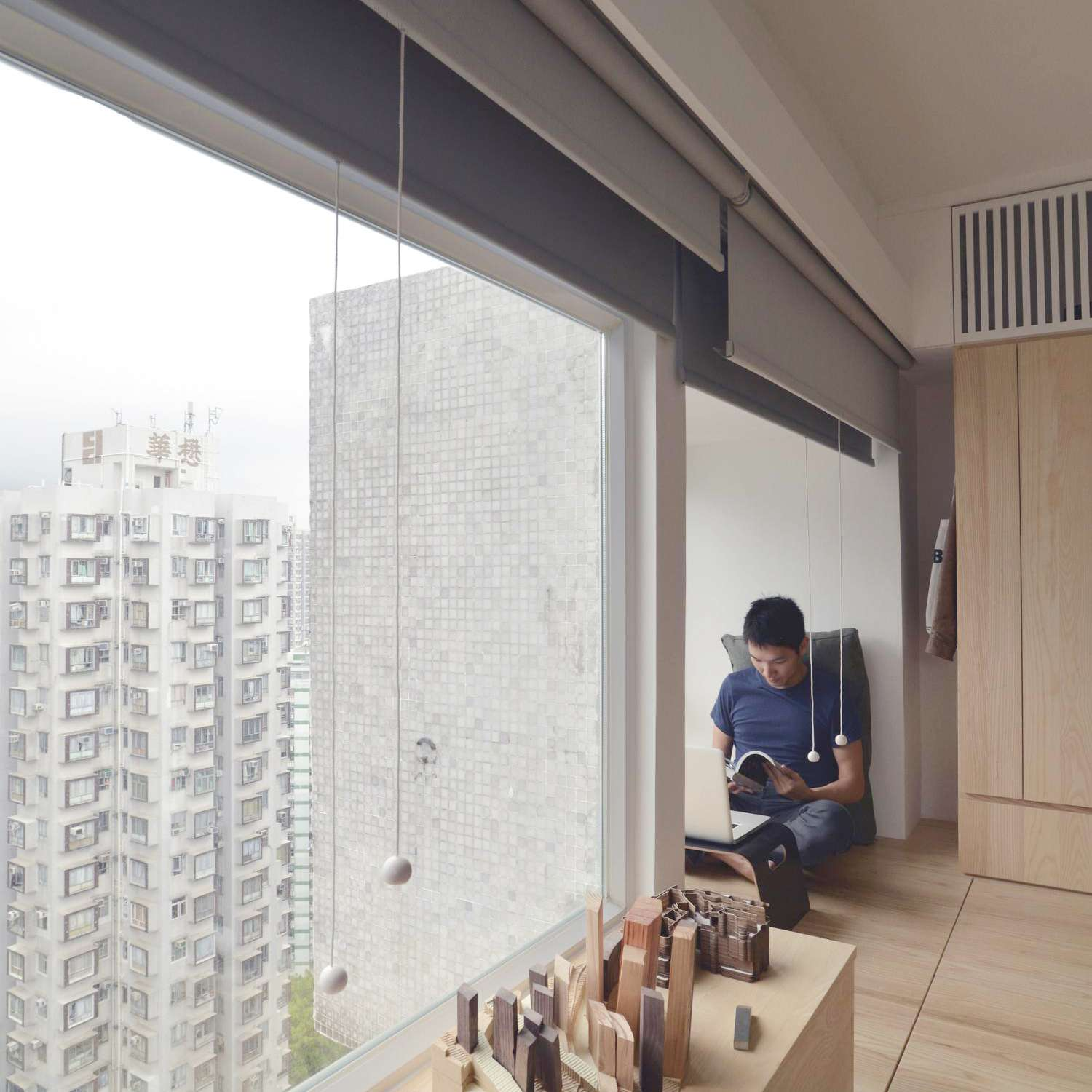 micro apartment renovation Design Eight Five Two reading nook