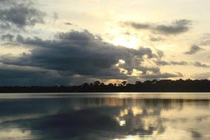 amazon sunset photo