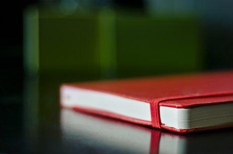moleskine red notebook photo