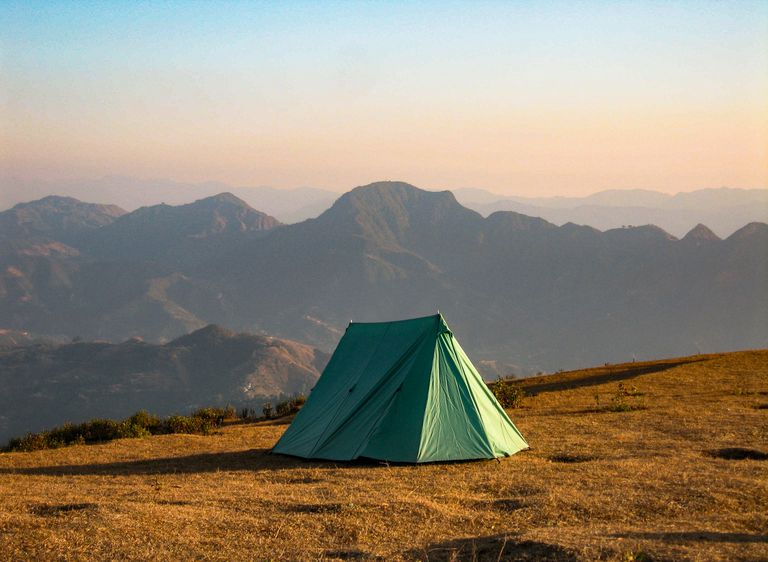 Lone camping tent
