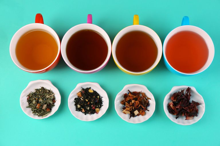 A spread of different types of tea
