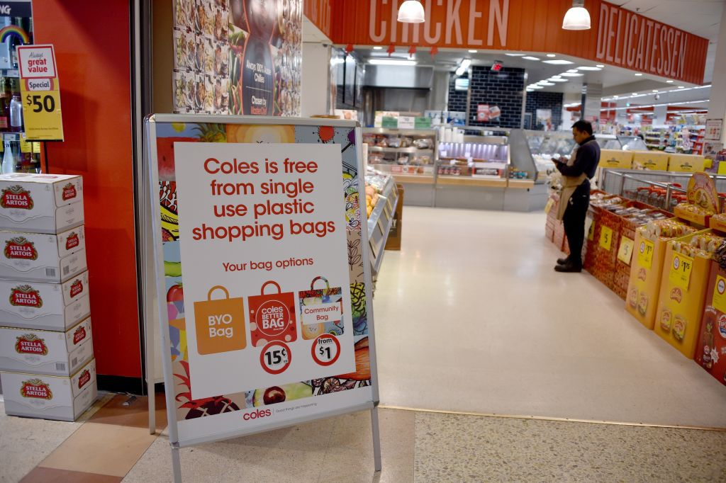 Australia grocery store plastic bag ban