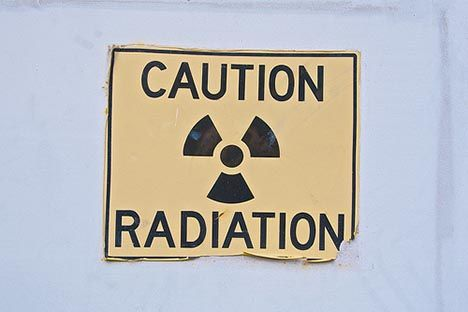caution radiation sign photo
