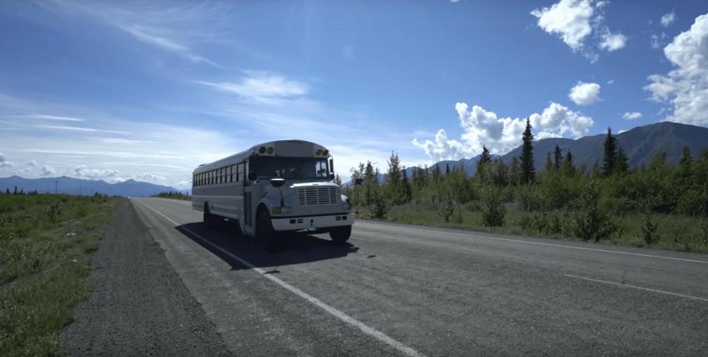 A school bus on the road