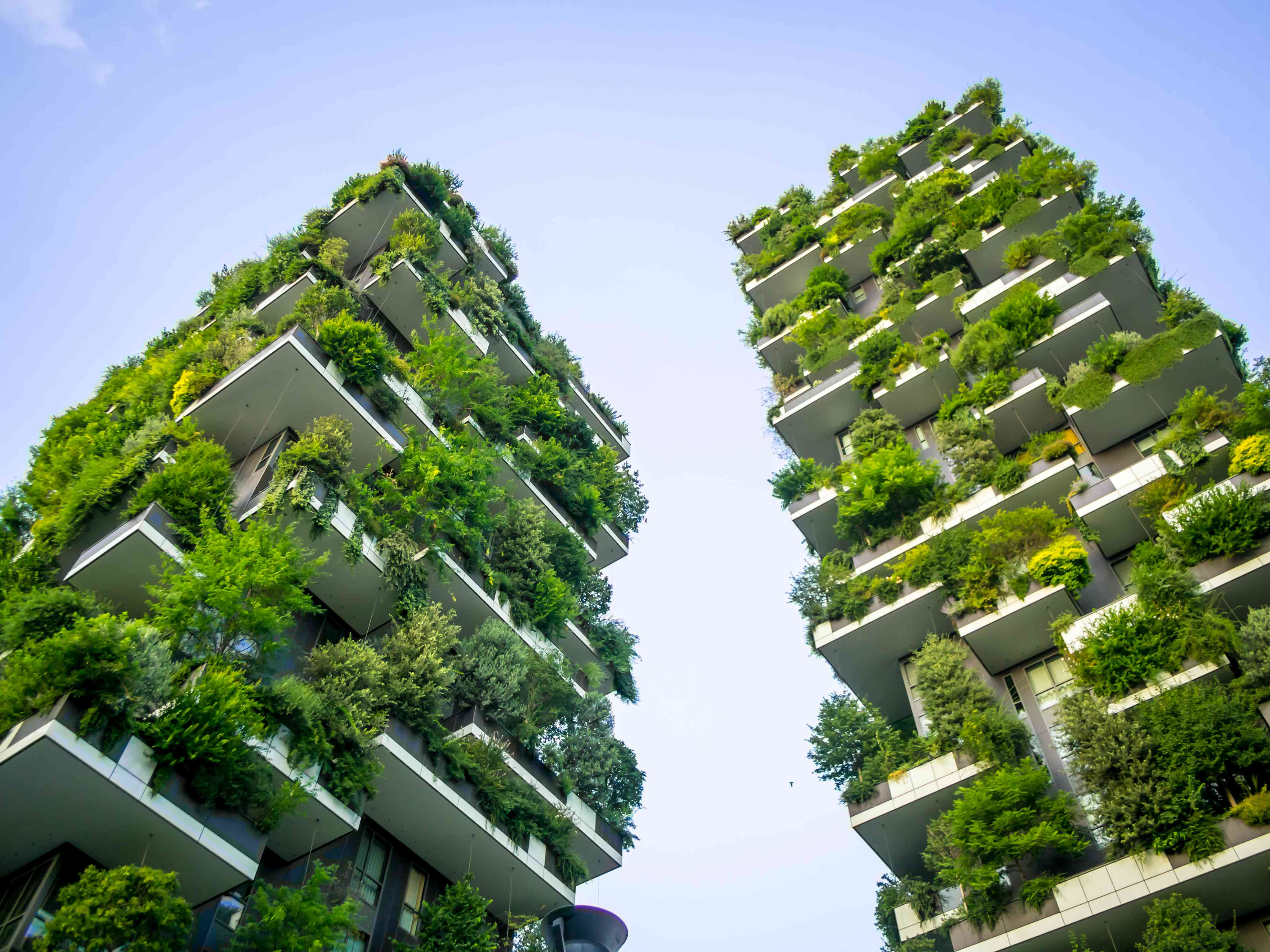 Bosco Verticale towers in Milan, Italy